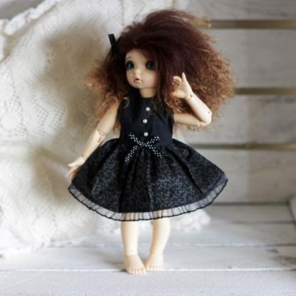 Afbeeldingen van CB black roses dress*