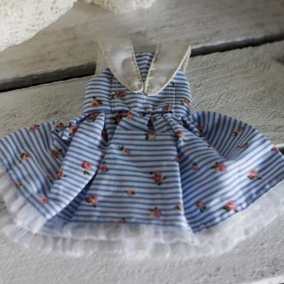 Afbeeldingen van Blue stripe sailor dress