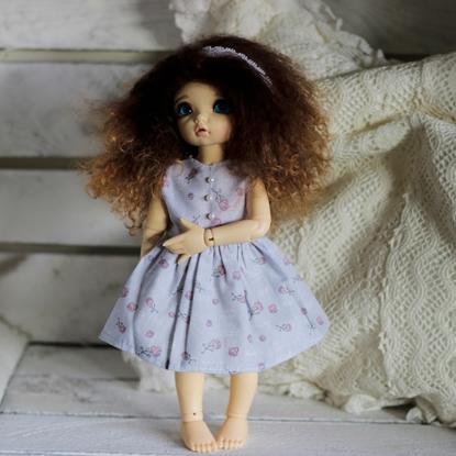 Afbeeldingen van Light purple roses dress*