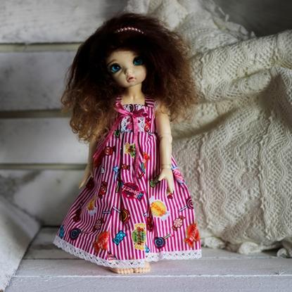 Afbeeldingen van Pink candy dress