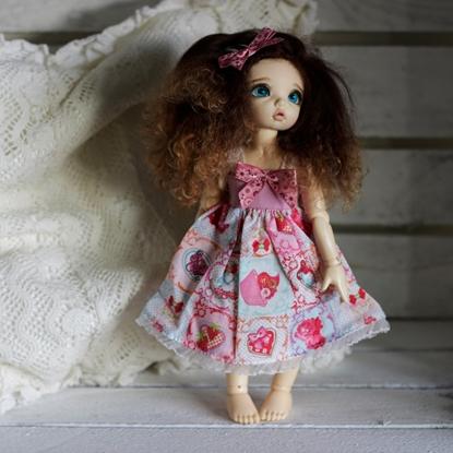 Afbeeldingen van Pink strawberry cupcake dress