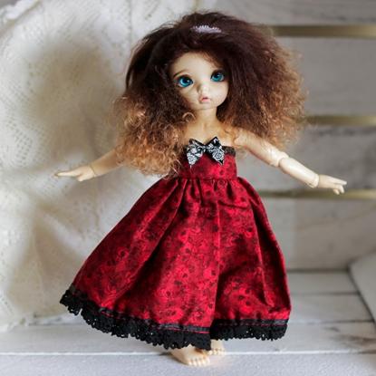Afbeeldingen van Red roses dress