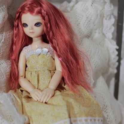 Afbeeldingen van Yellow heart dress