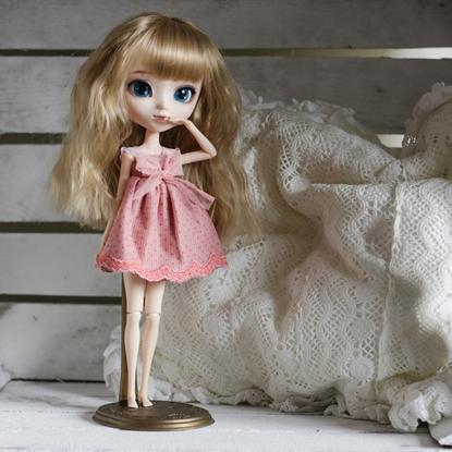 Afbeeldingen van Pink flower lace dress