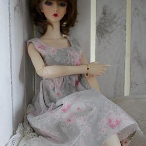 Afbeelding van Vintage grey laced dress