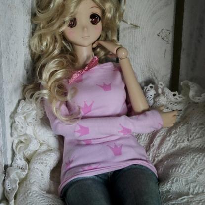 Afbeeldingen van Pink crown shirt