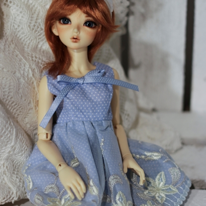Picture of Blue polka dot lace dress